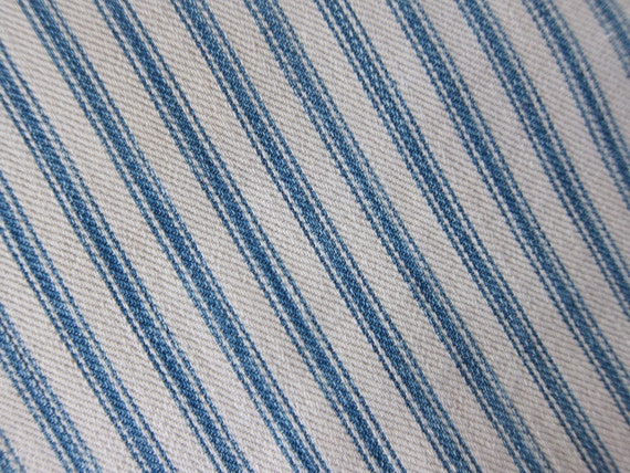 Vintage ticking pillowcase 1920s 30s