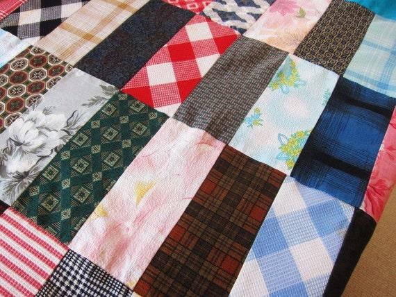 1950s vintage quilt top vibrant