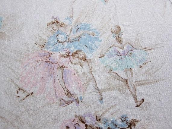 Ballerina 50s bedspread  cotton fabric
