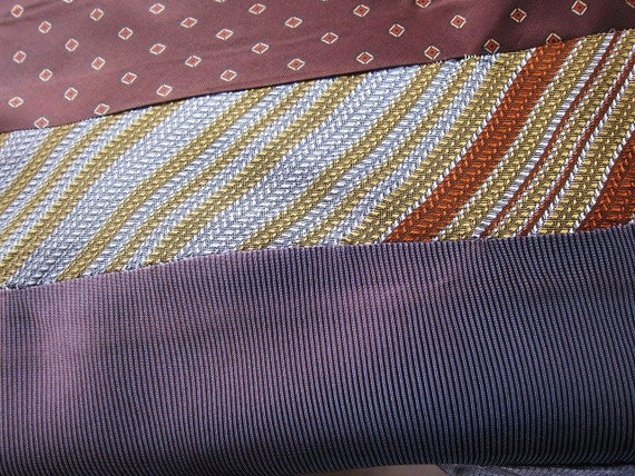 All old Ties vintage quilt top for crafts 50s 60s