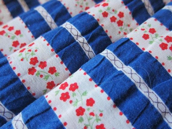 Vintage 60s 70s striped dressmaking cotton