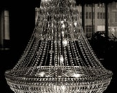 Chandelier ( Black and White 10 x15 archival print)