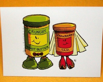 Peanut Butter and Jam Greeting Card w/ Astro Bright Envelope