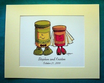 8x10 Custom Peanut Butter and Jelly Print