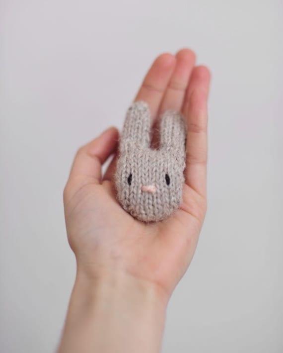 Light Brown Bunny Brooch