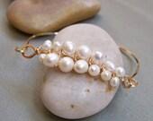 Pearl Woven Bracelet in Gold