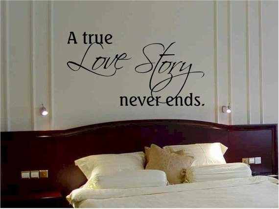A True Love Story Never Ends Quote: Items Similar To Wall Quote Sticker Decal A True Love