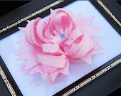 Pink Princess Stacked boutique Hair Bow. Bowchicks.