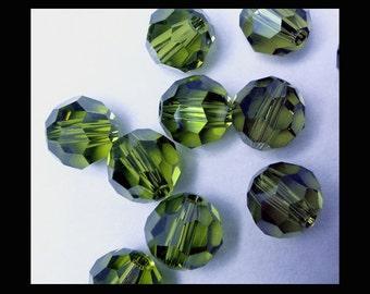 5mm Olivine Swarovski Round Beads (24)