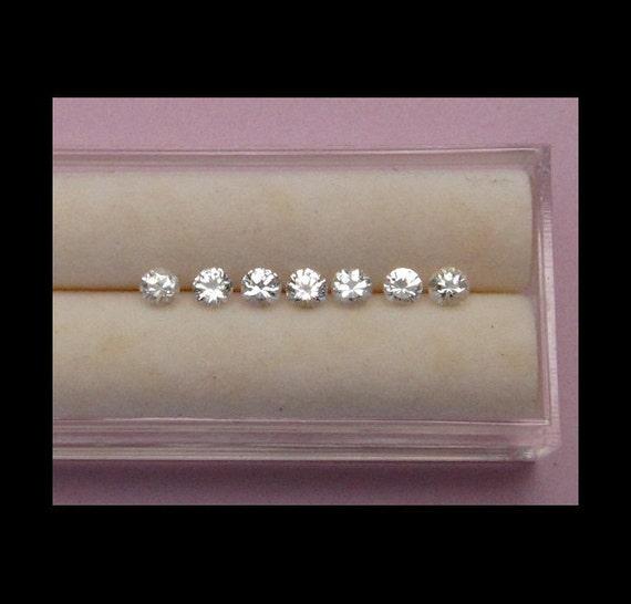 White Sapphire - Round - 3.1mm - 3.4mm (1)