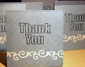Swirly Blue Thank You Cards