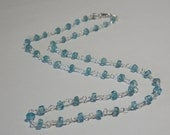 Handwrapped Sterling Silver and Apatite Necklace