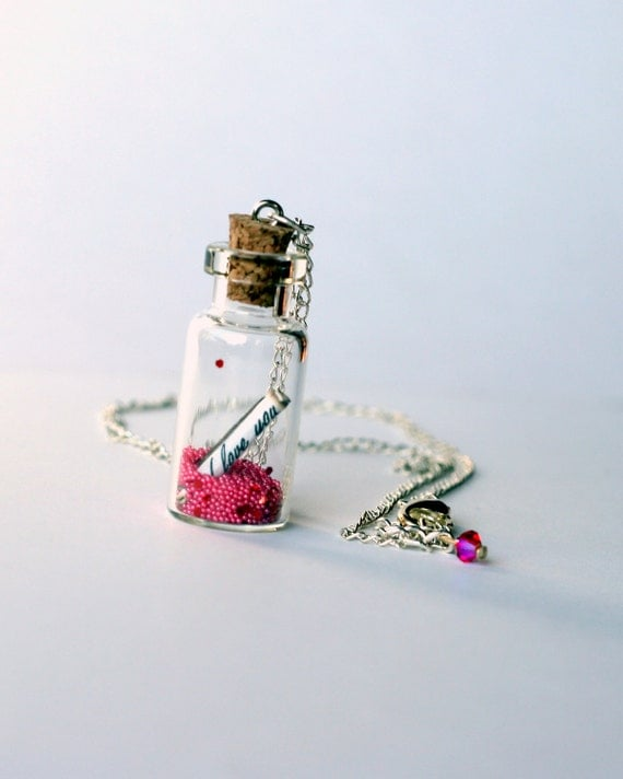 I Love You Pixie Dust Necklace, Fairy Dust Necklace on a chain, Stocking Stuffer