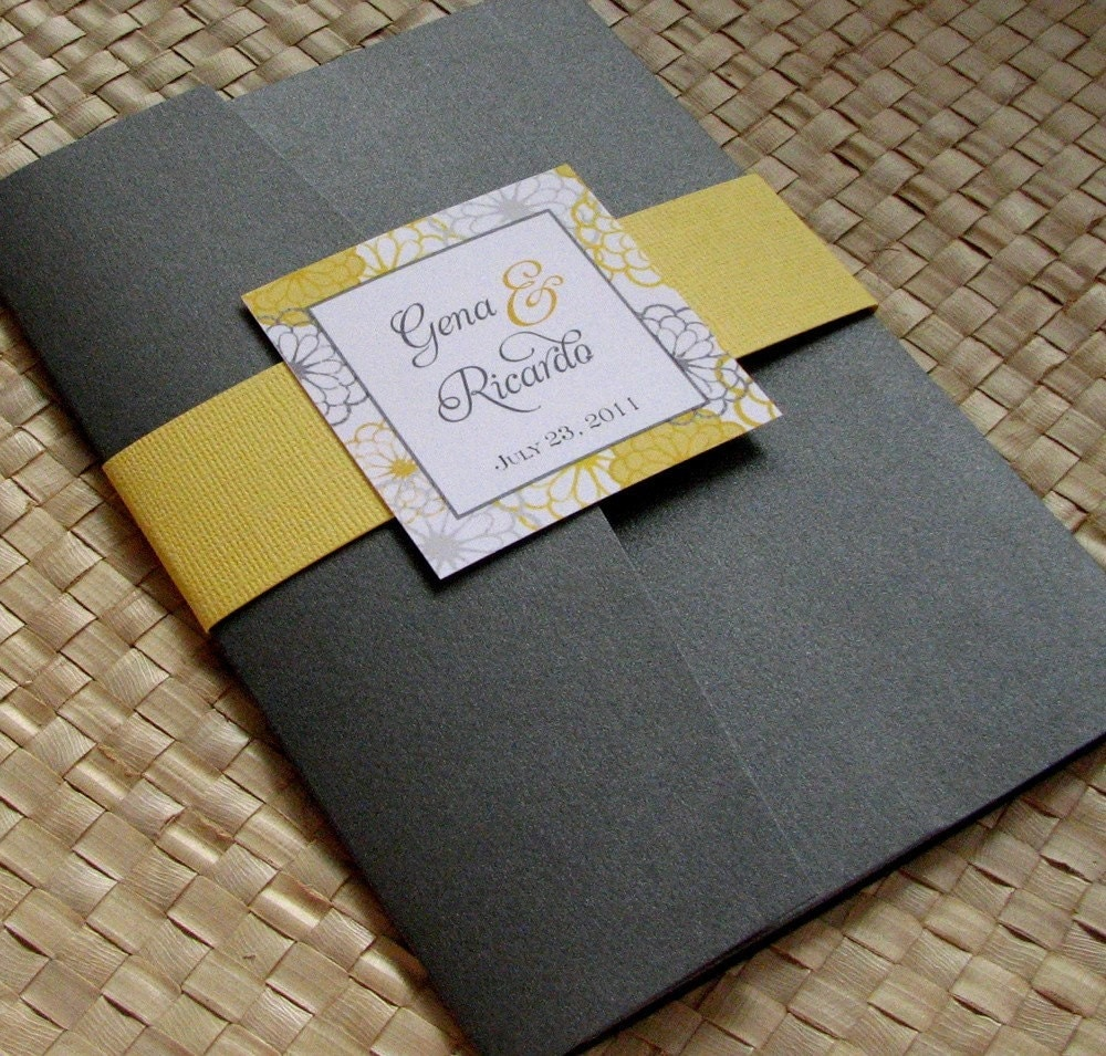 Yellow And Grey Wedding Invitations for your inspiration to make invitation template look beautiful