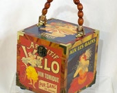 French Street Posters Wood Box Purse\/ RESERVED FOR KARENCHKA ONLY