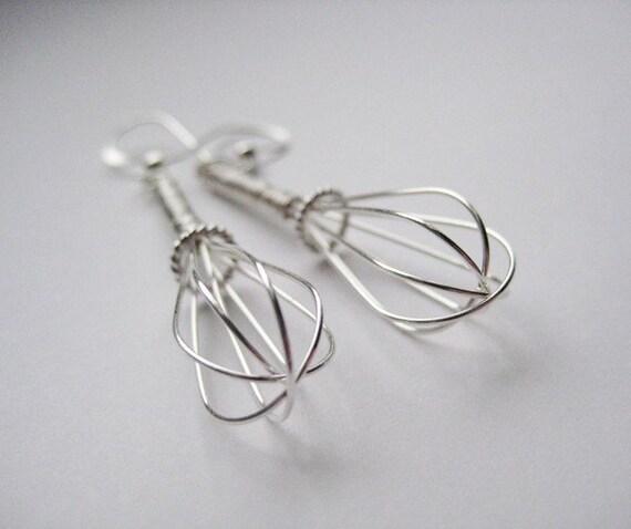 Whisk - Sterling Silver Earrings
