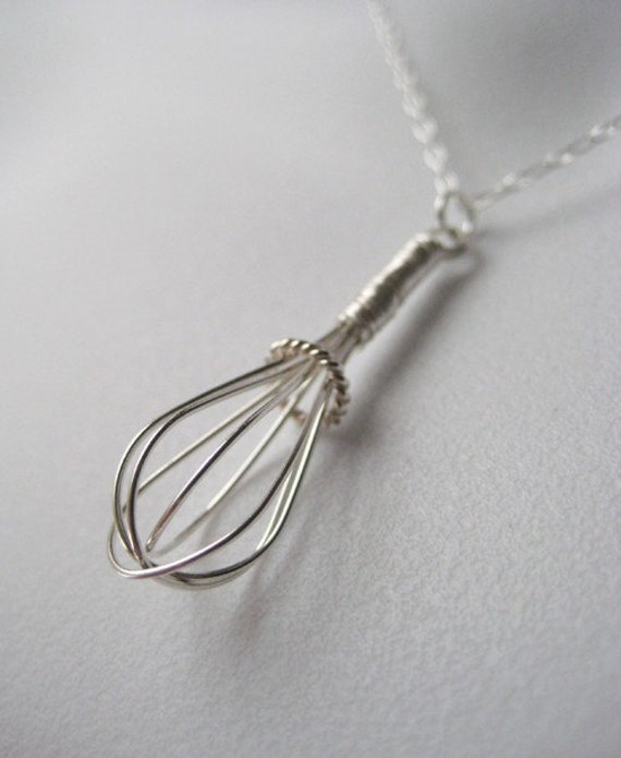 Wire Whisk - Sterling Charm Necklace