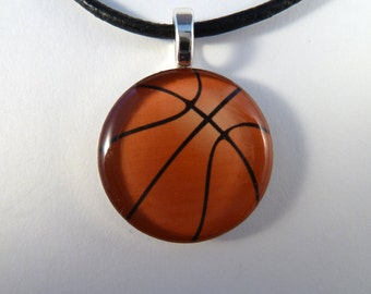 Basketball Resin Photo Art Pendant