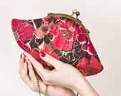 Red poppies Lizzy clutch bag