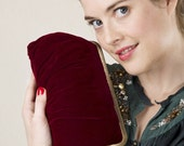 Red Velvet Lili clutch-LAST ONE