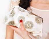 Delicate Dandelion Medium Lili Clutch-LAST ONE