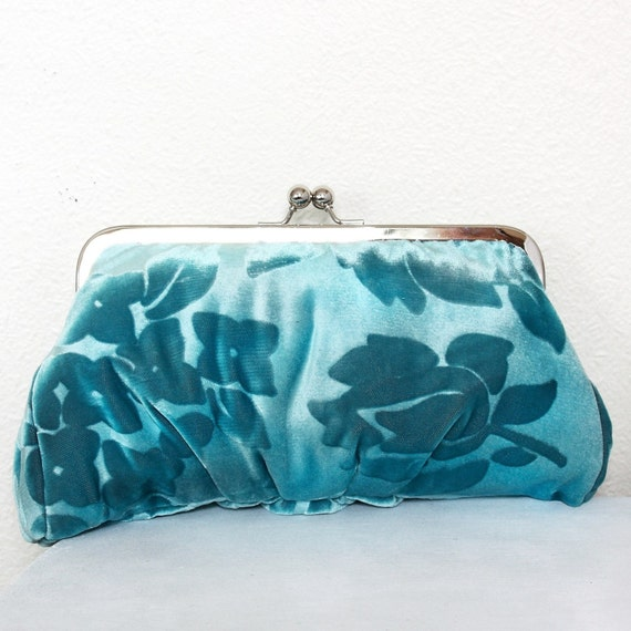 Cosy clutch bag - Dreamy Blue Lili - Only One - RESERVED FOR LORENZONE
