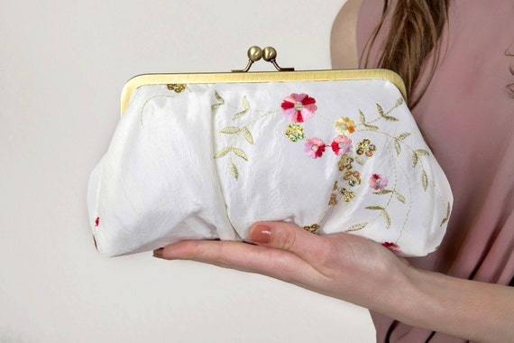 Sequins Floral Lili clutch-reserved for caffytm