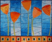 Art Quilt Kit - Growin' Tulips - PATTERN and GRADIENT ONLY