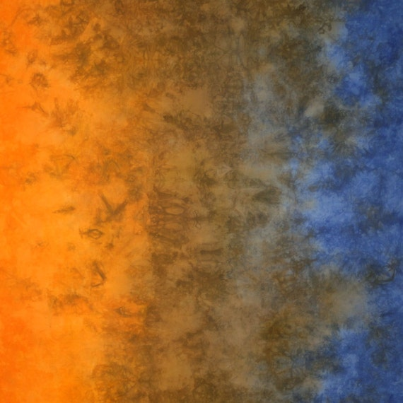 Gradient Hand Dyed Fabric - Orange to Sky