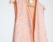 SALE - Layla (Cropped Peach Floral Vest)