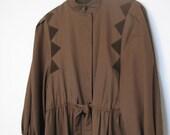 SALE - Piper (Valentino Long Brown Rain Coat)
