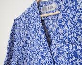 Chelsea (Blue Floral Button Dress)