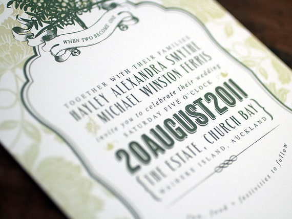 Tuscan Themed Wedding Invitations: Items Similar To Tuscany Wedding Invitations