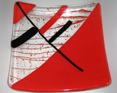 Black and Red plate - One