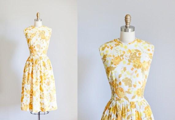 1950s // Sun Dress  // Large