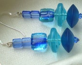 Royal Blue - Aqua Resin and Glass