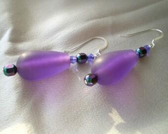 Purple Resin Teardrops