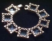Rare Vintage RENOIR Copper Black Enamel EBONY LACE Link Bracelet