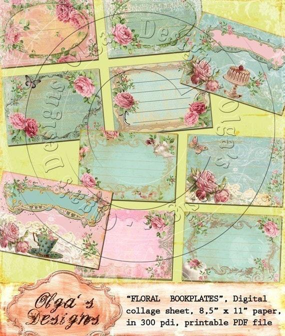 buy bookplates sales buy three get one free vintage floral bookplates