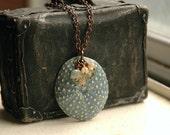 Ceramic Sea Urchin Pendant, Shell, & Stone Cluster Necklace - The Beachcomber