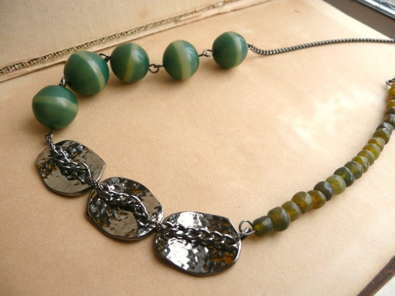 Gunmetal Necklace - Metallic Forest