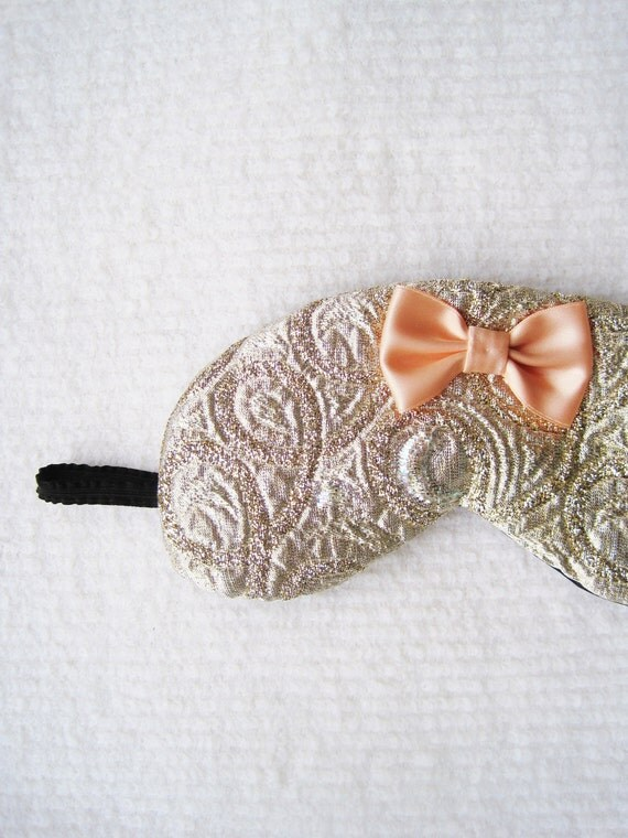Dazzling Jacquard Fancy Silk Eye Mask/style HIME