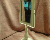 Shaving Mirror on Cast Iron Stand-