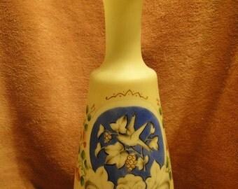 Beautiful  Bristol Milk Glass Vase 12 inches Tall-