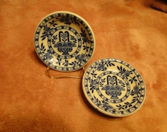 Sale - Pair of Ironstone Butter Pats-