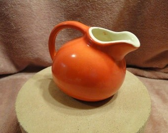 Small Orange Pitcher-