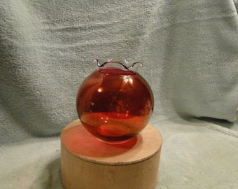 Ruby Flash Glass - Rose Bowl or Vase