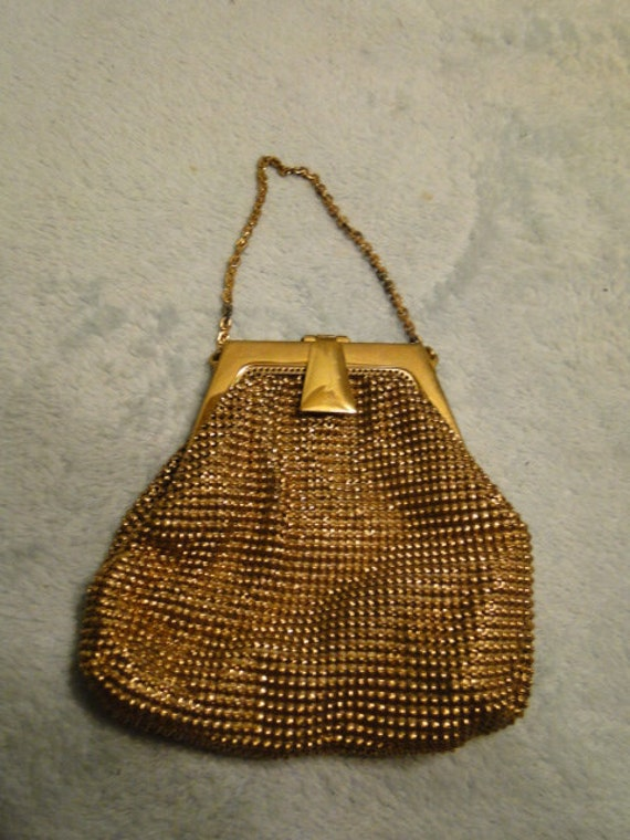Whiting and Davis Bead Mail Purse -