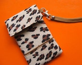 Iphone/cell phone  wristlet case fabric padded