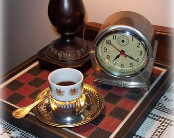 Fake Espresso Demitasse Cup Bellini Silver Plate Faux Food Prop
